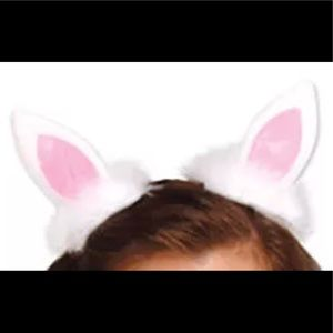 Bunny hair clips costume outfit headband fluffy